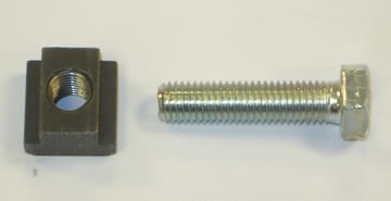 Tee Nut & Bolt M12 x 18mm Tee Slot
