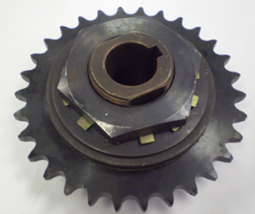 Sprocket / Slip Clutch Pulley On Swarf Conveyor Vulcan VMc