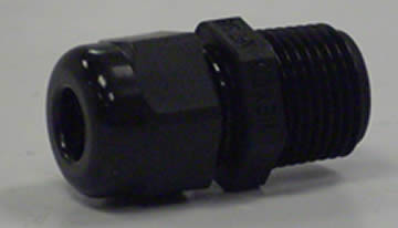 "Motor Cable Gland Npt 3/8"" Blk"