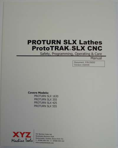 SWI Programing Manual For SLX Lathe 1630 355 425 555