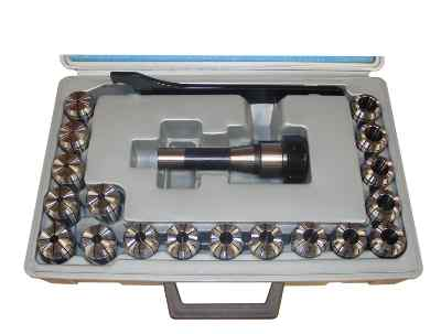 Collet Chuck Set With 18 x R8 ER32 Collets 3-2 To 20-19