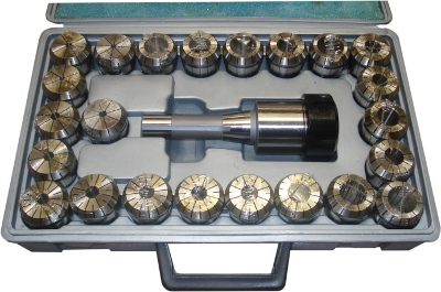 Collet Chuck Set With 23 R8 X ER40 Collets 5-4 To 26-25