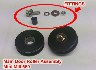 Main Door Roller Pair Assy Mini Mill 560 (inc Fittings)