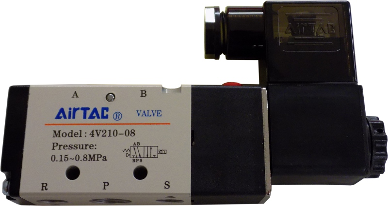 Valve Air Solenoid Single 4 Way 2 Pos 24VDC for 2-OP