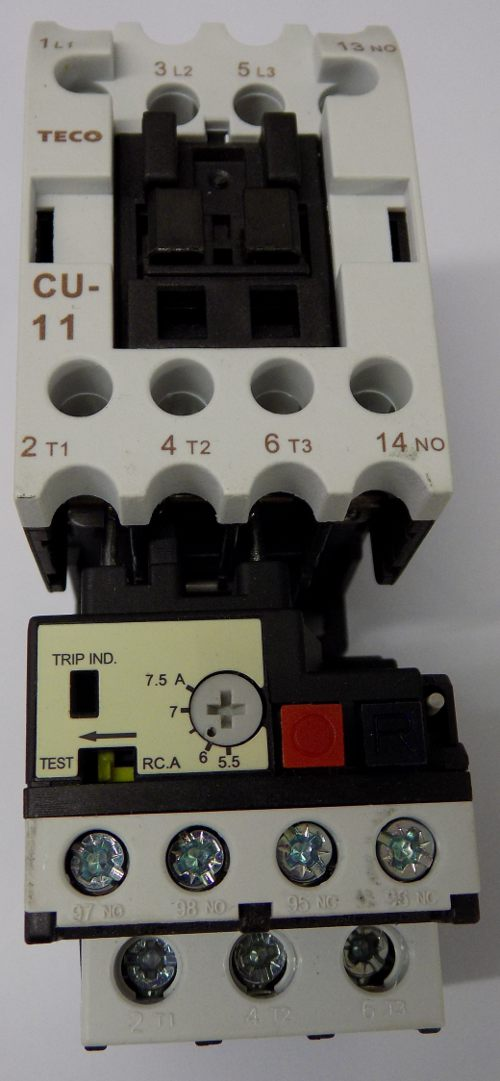 XYZ Top One 1500 Contactor 24A 110v With Overload 5.5 - 7.5A