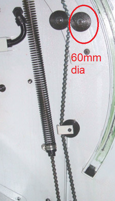 Pulley For Door Chain Kit On PRO VL SLX 355 425 555