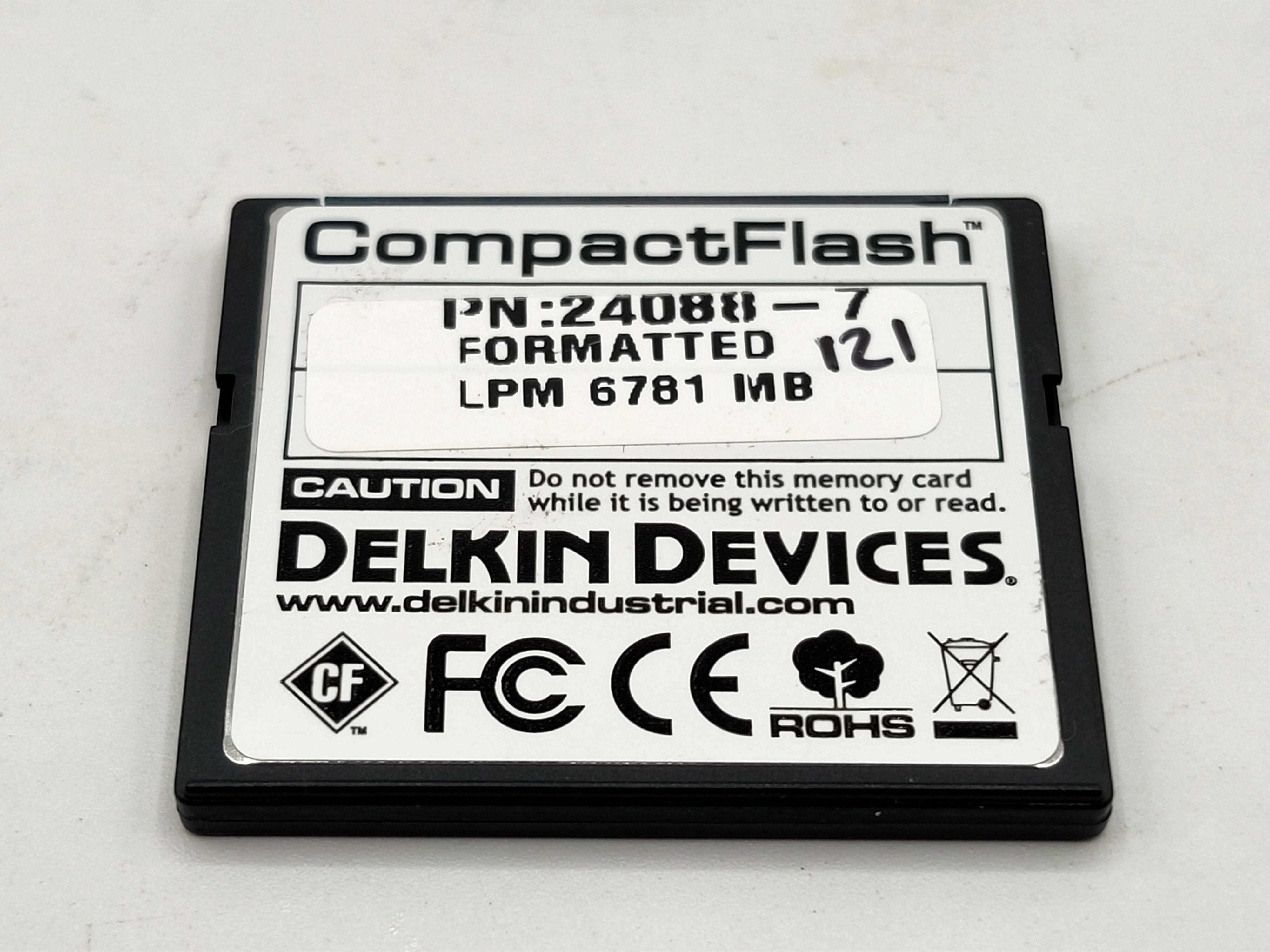 Compact Flash System Disk Delkin PCA - 6781 - LPM 2GB
