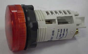 Pilot Lamp Red.  Add P/n 3131 if Bulb is required.