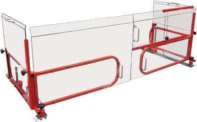 New Table Guard 1060mm For XYZ 1500 with back Guard