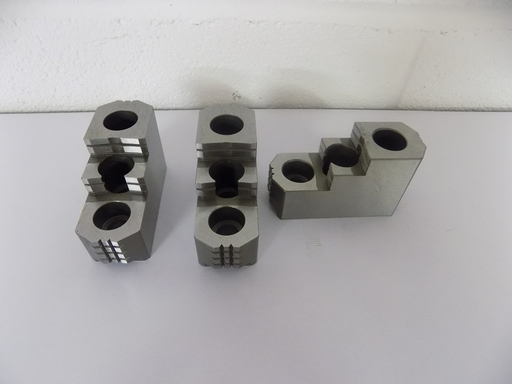 """Set Of  8"""" Hard Jaws For Hydraulic Chuck On CT 52 LTY"""