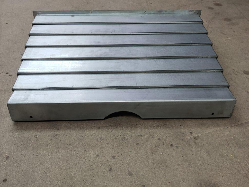 Y Axis Metal Concertina Guard Front of DPM VM SMX 5000